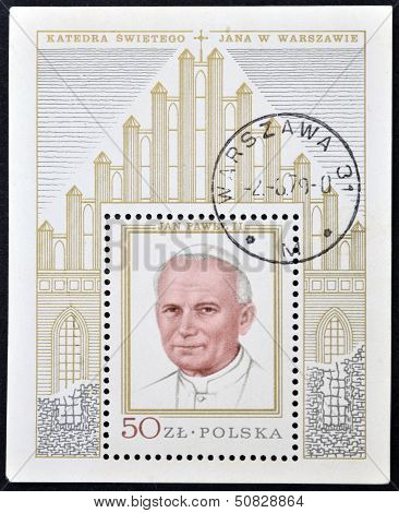Poland - Circa 1979: A Stamp Printed In Poland Shows Pope John Paul, Circa 1979
