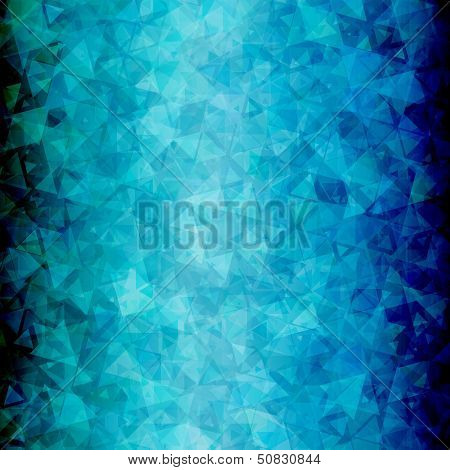 Abstract Blue black triangle background vertical