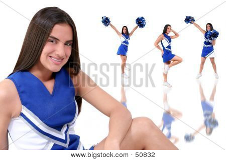 Beautiful Cheerleader Teen With Braces
