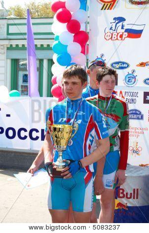 Russland, Omsk, am 9. Mai.