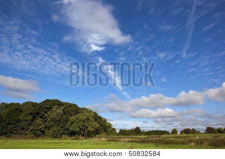 Autumn Landscape And Sky