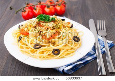 Pasta with chicken brest