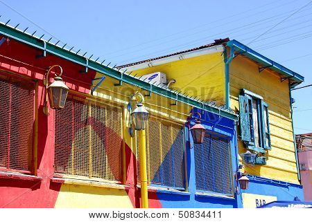 olorful area in La Boca neighborhoods