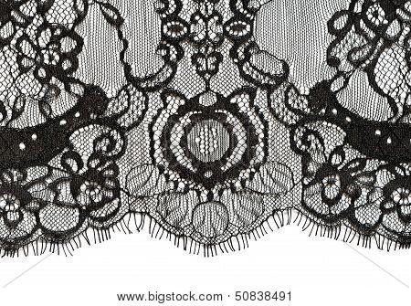 Black lace edge