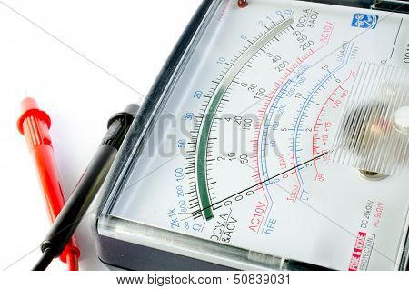 Multimeter Display Closeup