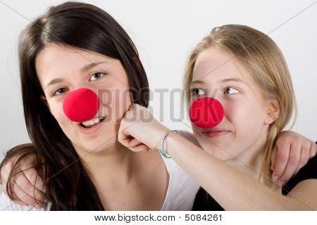 Clowns Fighting