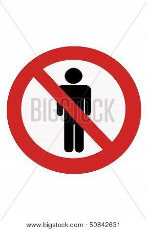 Signs Entry Ban Man.