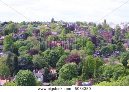 Nottingham Skyline England Uk
