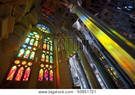 interior of Sagrada Familia