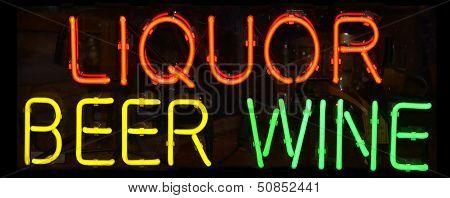 Liquor Sign