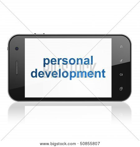 Education concept: Personal Development on smartphone