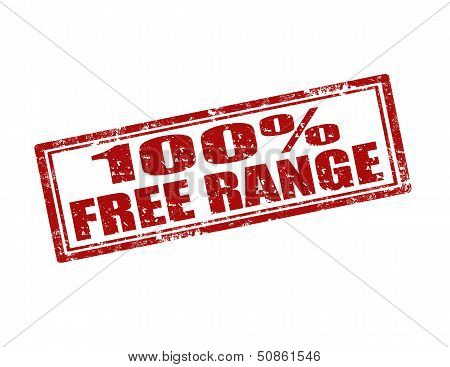 100% Free Range-stamp