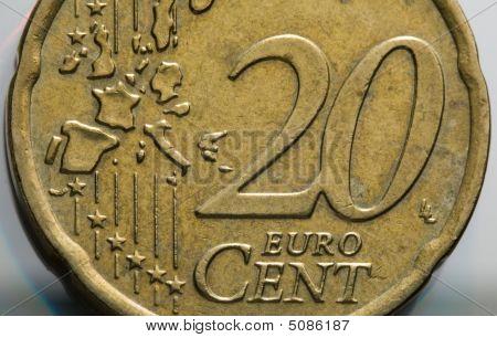 20 Euro Cents Macro