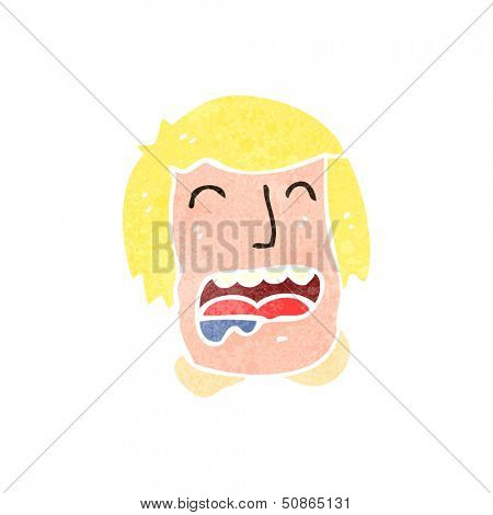 retro cartoon drooling man