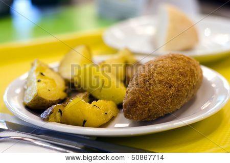 Chicken Kiev Fry Up