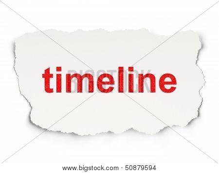 Timeline concept: Timeline on Paper background