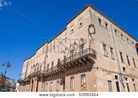 Imperiali Filotico Palace. Manduria. Puglia. Southern Italy.