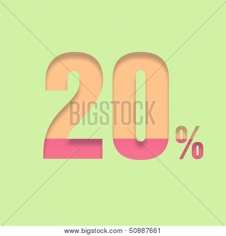 Twenty percent symbol
