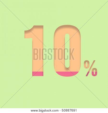 Ten percent symbol