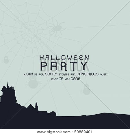 Scary Halloween background, banner or poster for trick or treat party.