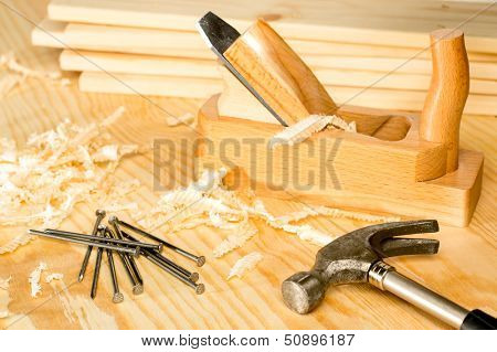 Carpentery selection of woodwork tools