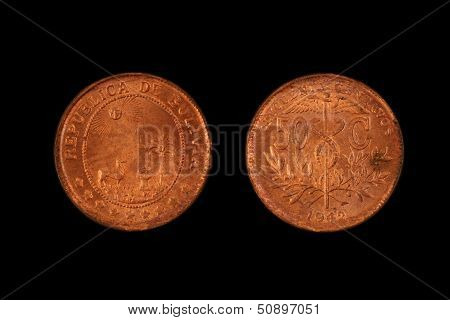 Old Bolivian Coin