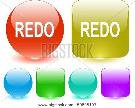 Redo. Interface element. Raster illustration.