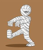 stock photo of mummy  - halloween Cute mummy walking - JPG