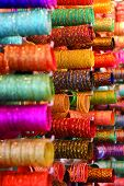picture of charminar  - Bangles for Sale at the Laad Bazaar, Charminar, Hyderabad