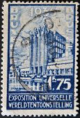 Belgium - Circa 1935: A Stamp Printed In Belgium Dedicated To The Universal Exhibition In Brussels