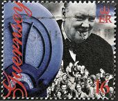 Guernsey - Circa 1995 : Stamp Printed In Guernsey Showing Winston Churchill, Circa 1995