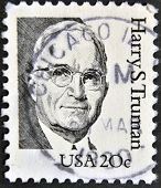 USA - CIRCA 1984: A stamp printed in USA shows Harry S. Truman circa 1984