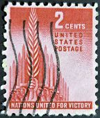 USA - CIRCA 1943: A Stamp printed in USA shows the Allegory of Victory circa 1943
