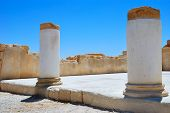 pic of masada  - The ruins of an ancient temple on the blue sky background - JPG
