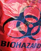 stock photo of waste disposal  - bio hazard bag - JPG