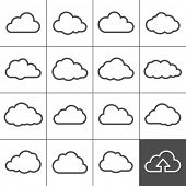 stock photo of clouds  - Cloud shapes collection - JPG