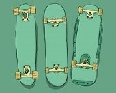 stock photo of skate board  - Skateboards set - JPG