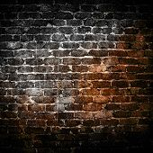 stock photo of brick block  - grunge brick wall - JPG