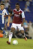 BARCELONA - SEPT, 5: Modibo Maiga of West Ham United in action during a friendly match against RCD E