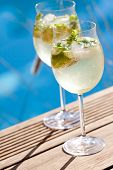 foto of elderflower  - hugo prosecco elderflower soda ice summer drink outdoor aperitif - JPG