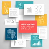 pic of graphs  - Vector abstract squares background illustration  - JPG