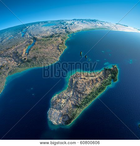 Detailed Earth. Africa And Madagascar