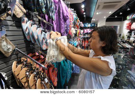 Saleslady In A Fashion Boutique