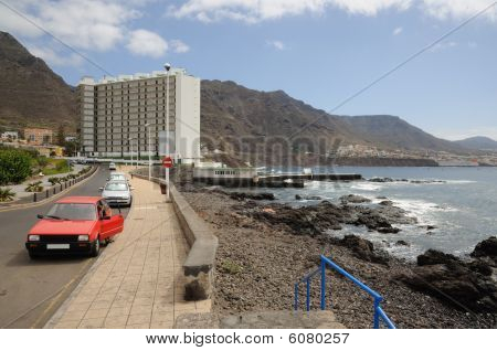 Atlantic Coast In Punta Del Hidalgo, Tenerife Spain