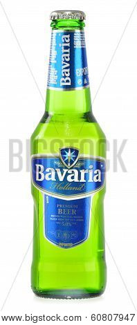 Bottle Of Bavaria Premium Beer Isolated On White