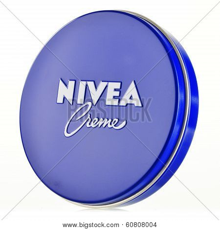Nivea Creme Container Isolated On White