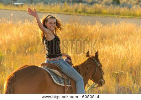 Teen riding