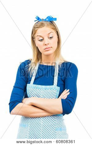 Self-confident housewife