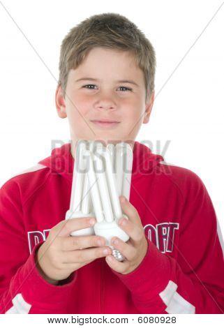 Boy Holds A Bulb