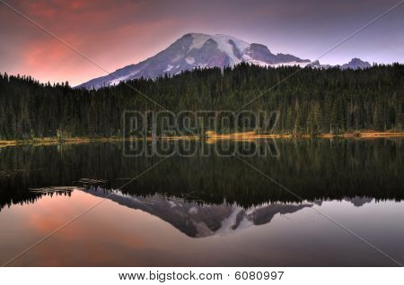 Mount Rainier With Reflection